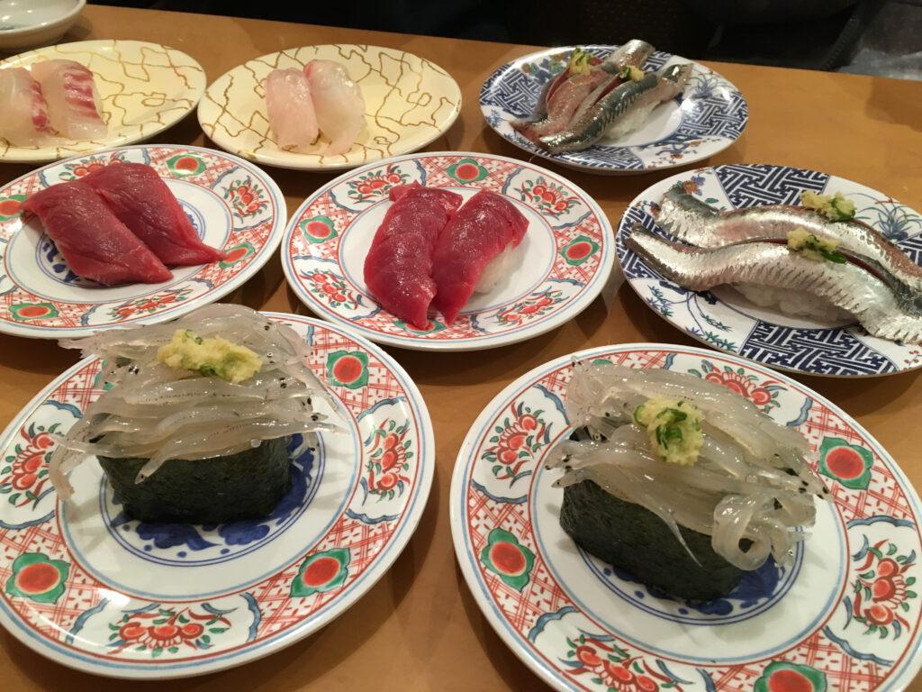 廻鮮寿司塩釜港の寿司